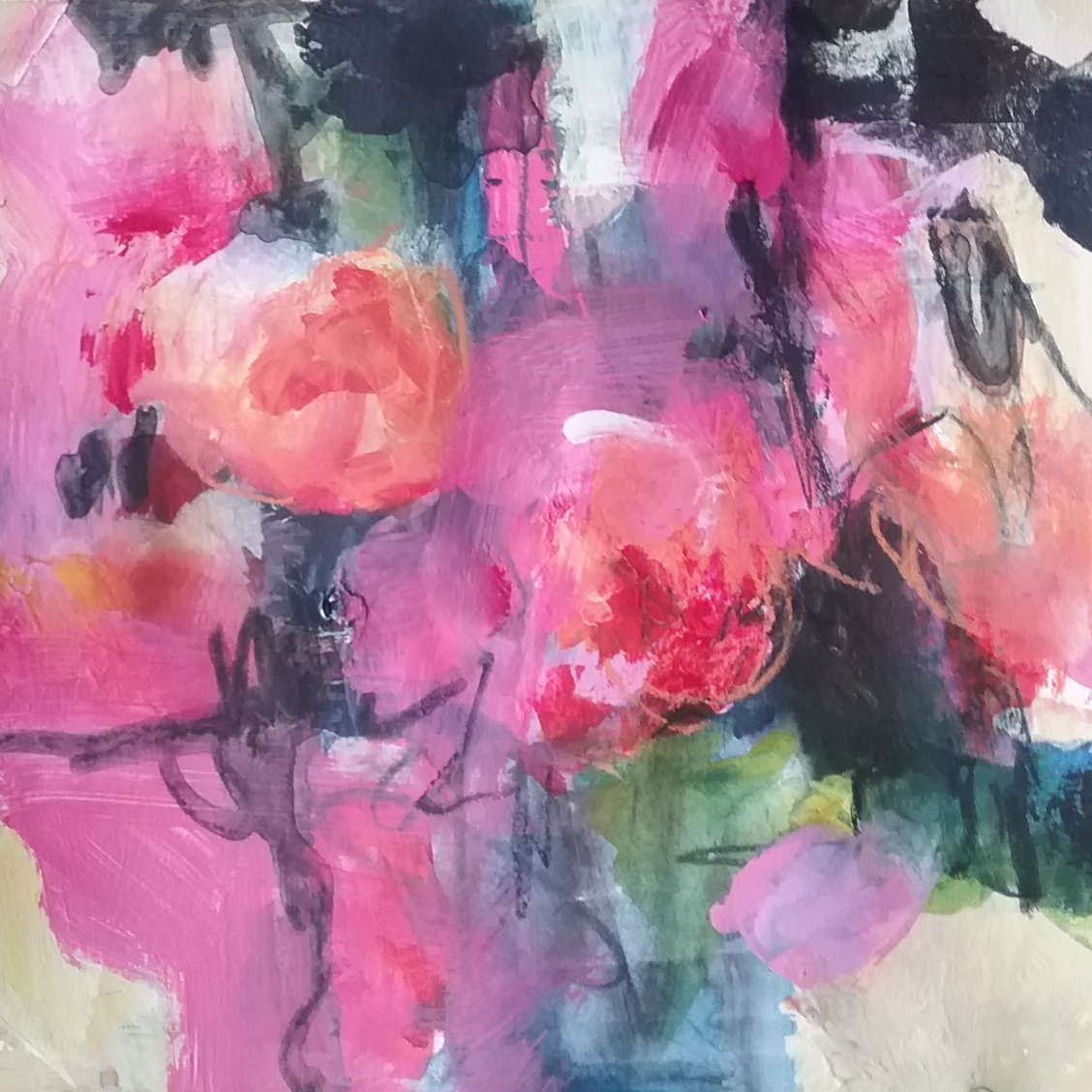 Floral abstract painting.